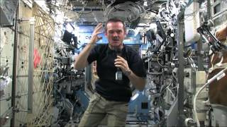 eating canadian space food while weightless   csa iss food science full hd video
