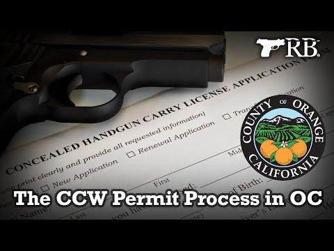 The CCW Permit Process In Orange County CA