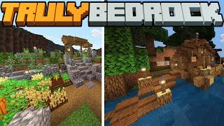 A Brand New Beginning, Farming & Building! - Truly Bedrock - S1 E2 - Minecraft SMP [1.11]
