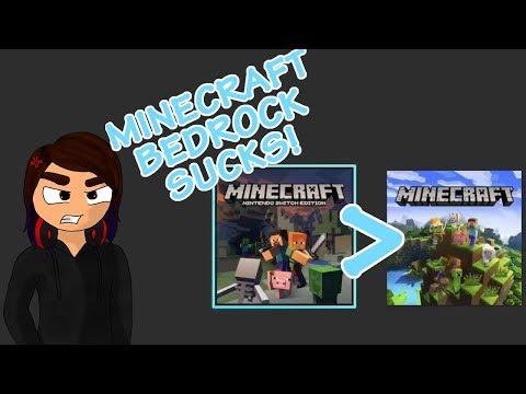Minecraft: Bedrock Edition on Nintendo Switch Fucking Sucks