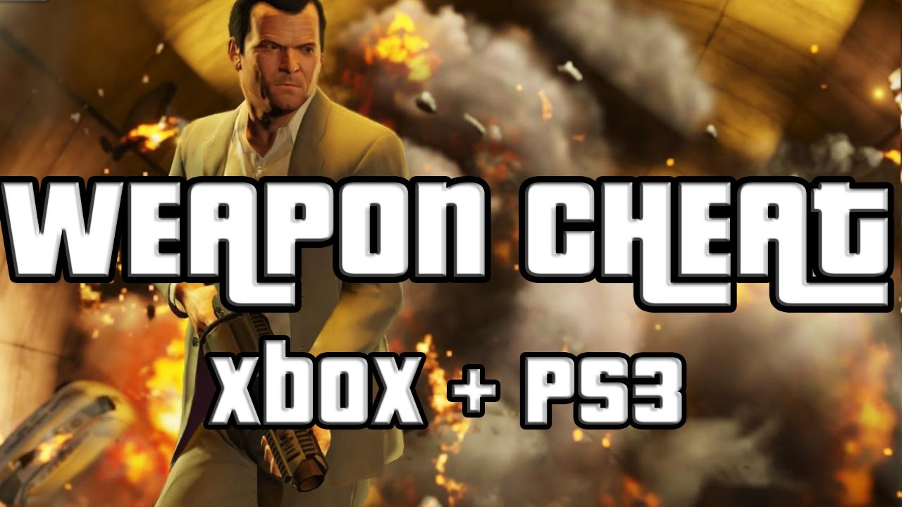 <b>GTA 5 Weapons Cheat GTA</b> V Weapon <b>Cheat Code</b> Xbox 360 and Ps3 - YouTube