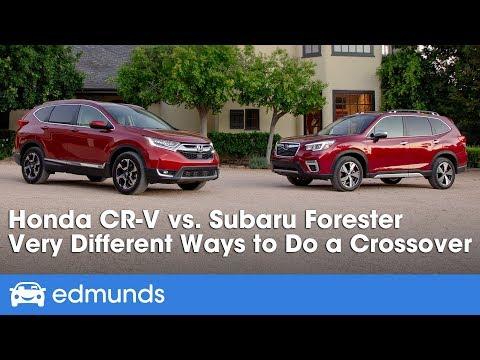 2019 Honda CR-V vs. 2019 Subaru Forester ― Small SUV Comparison & Review