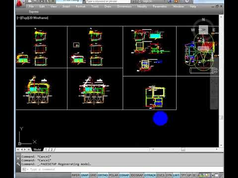 Paper Space In Black And White Only In Autocad Drawing Youtube