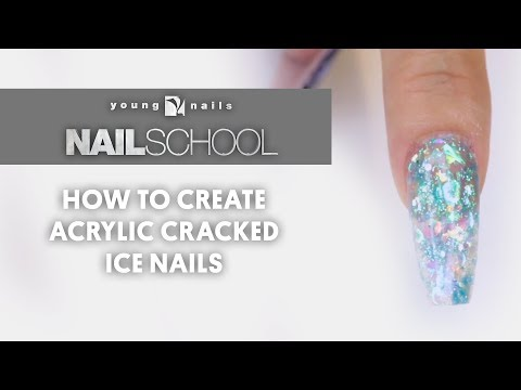 YN NAIL SCHOOL - HOW TO CREATE ACRYLIC CRACKED ICE NAILS