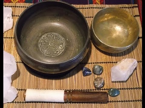 Methods for cleansing Crystals Part 3  Singing bowls