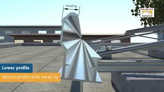 Durasun: montage zonnepanelen Oost-West op een plat dak
