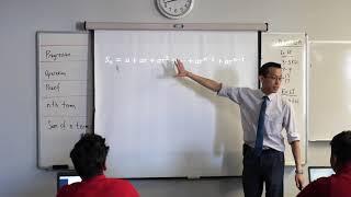 Intro to Geometric Progressions (2 of 3: Algebraic derivation of sum formula)