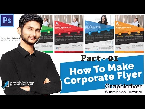 How To Make a Corporate Flyer Design in Photoshop | Graphicriver Submssion Tutorial Class-01