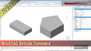 BricsCAD How To Extrude Basic Tutorial For Beginner