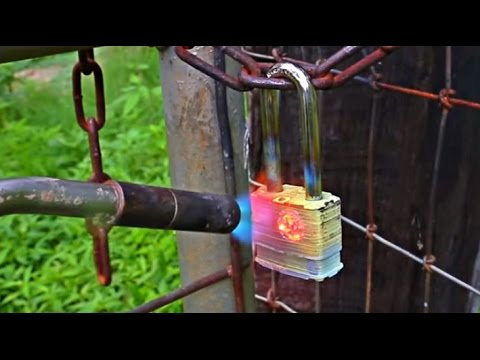 Thumbnail: Fire Proof Padlock Melted Open Test