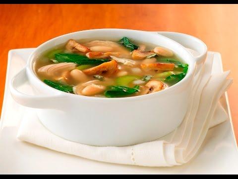 Суп грибной с корнем сельдерея