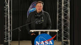 Elon Musk's historic speech at Crew Demo-2 post-splashdown event