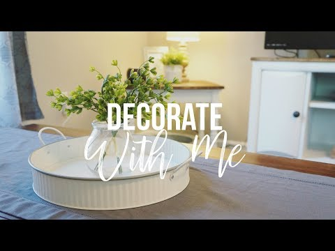 DECORATE WITH ME 2018 | Farmhouse Style Decorating | Maranda Christine