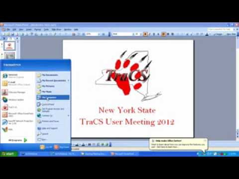 NY State TraCS User Group Meeting, Day 1, Part1.wmv