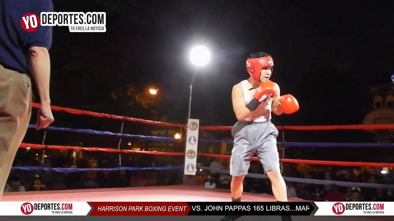 Marco Rueda v.s John Pappas Harrison Park Boxing Event Pilsen - YouTube