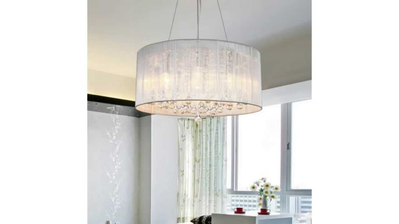 Lightinthebox Modern Crystal Pendant Light In Cylinder Shade Drum Style Home Ceiling Fixture You