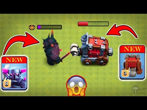 Max Level 8 PEKKA Vs Max Wall Wrecker (Siege Machine) | Clash Of Clans Ultimate Battle
