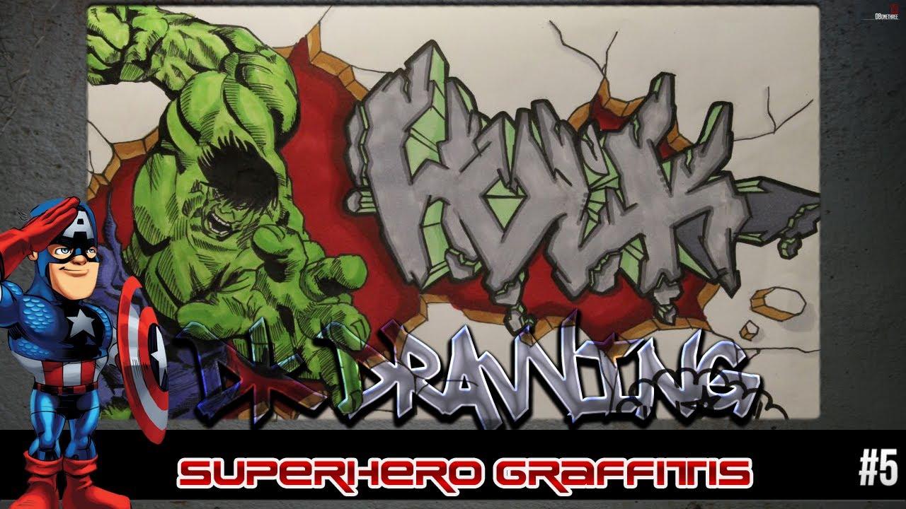 how to draw graffiti letters hulk