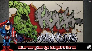 How to draw graffiti letters Hulk