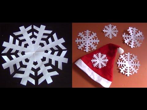 DIY - Bricolage de Noël #10 (flocon de neige en papier)