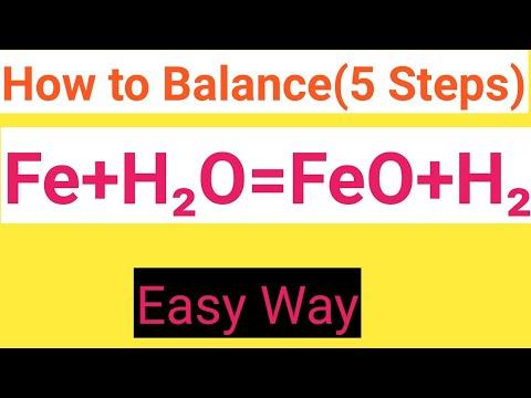 Fe+H2O=FeO+H2O Balanced Equation||Iron+Water=Iron(ii) Oxide+Water Balanced Equation