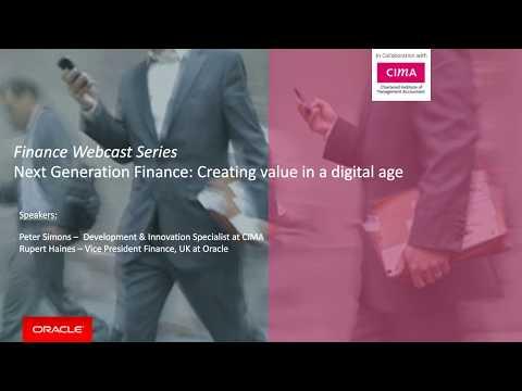 Next-Generation Finance Webcast