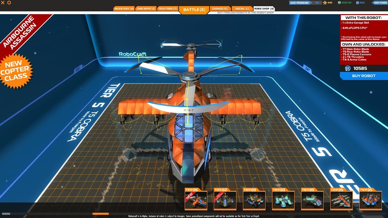 Robocraft T5 Cobra from Shop - YouTube