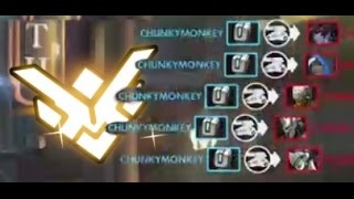 Overwatch Grand-Master vs Platinum (53 Kill Streak) Bastion Full-Hold