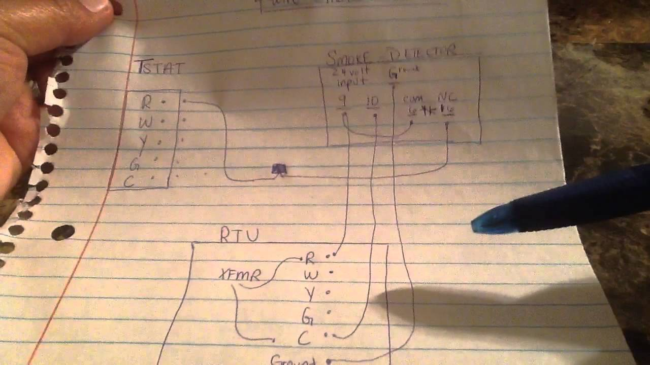 wiring a hvac ducted smoke detector easy way youtube fire alarm sensor wiring [ 1280 x 720 Pixel ]