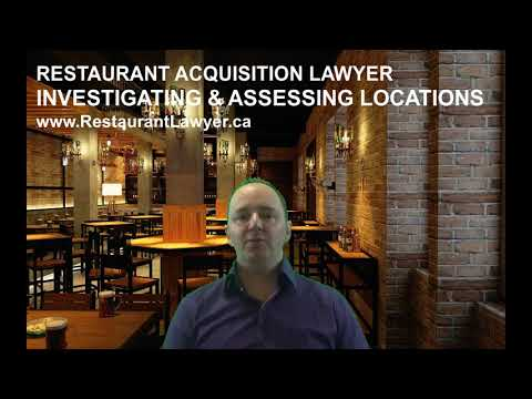 Restaurant Acquisition Lawyer: Investigating and Assessing Locations