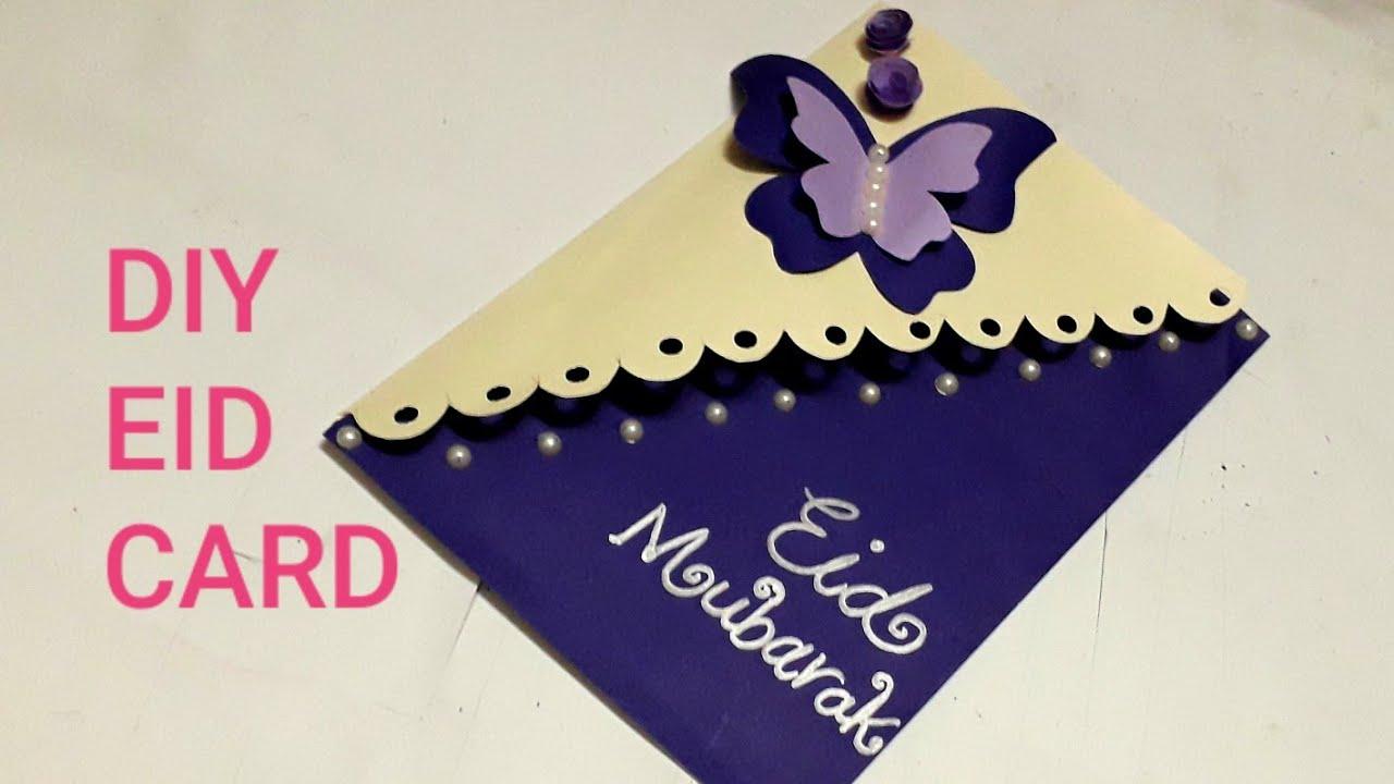 eid card making  beautiful handmade card for eid