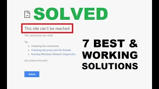 How to Fix This Site Can't Be Reached Error Easily [ 7 Best & Working Solutions ]
