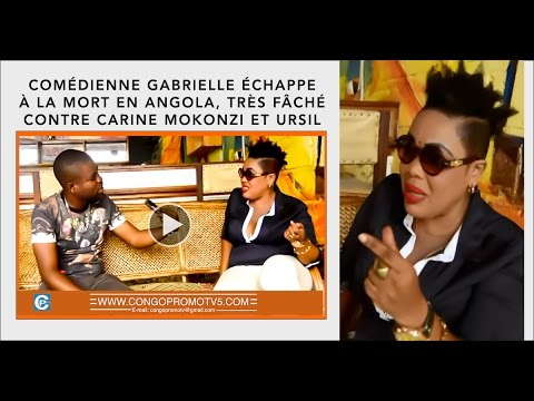 URGENT | COMÉDIENNE GABRIELLE ÉCHAPPE À LA MORT EN ANGOLA, TRÈS FÂCHÉ CONTRE PRODUCTEUR