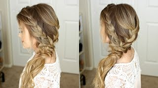 Ided Side Swept Prom Hairstyle