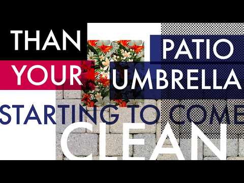 What's Crazier?  Your Patio Umbrella Clean in 30 SECONDS!
