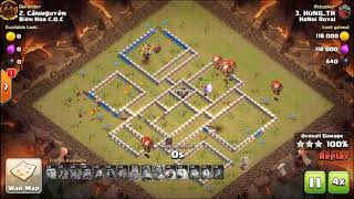 HaNoi Royal vs Bien Hoa COC | Laloon | 3 Stars War TH12 | ClanVNN #696