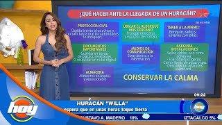 Huracán Willa tocará tierra en unas horas | Aclimátate | Hoy