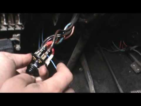 Как поставить провода на замок зажигания ваз 2106