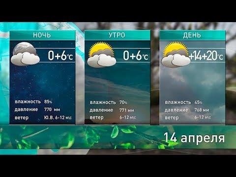 Прогноз погоды на 14 апреля