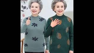 중년 노인 70대할머니옷 빅사이즈 스웨터 여성 캐시미어…