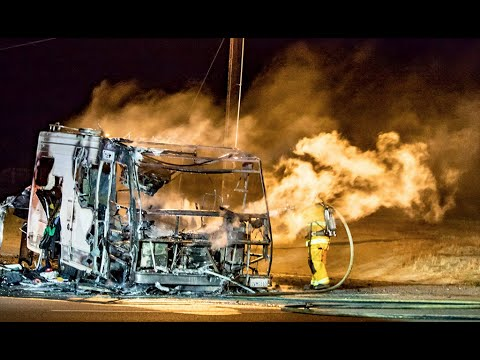 Hemet, CA: RV Explodes and is Incinerated on Lake St and Florida Ave