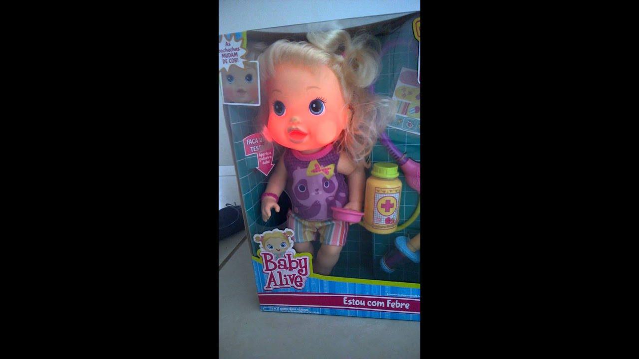 290fd42ad4 Baby Alive Estou com febre loira - YouTube