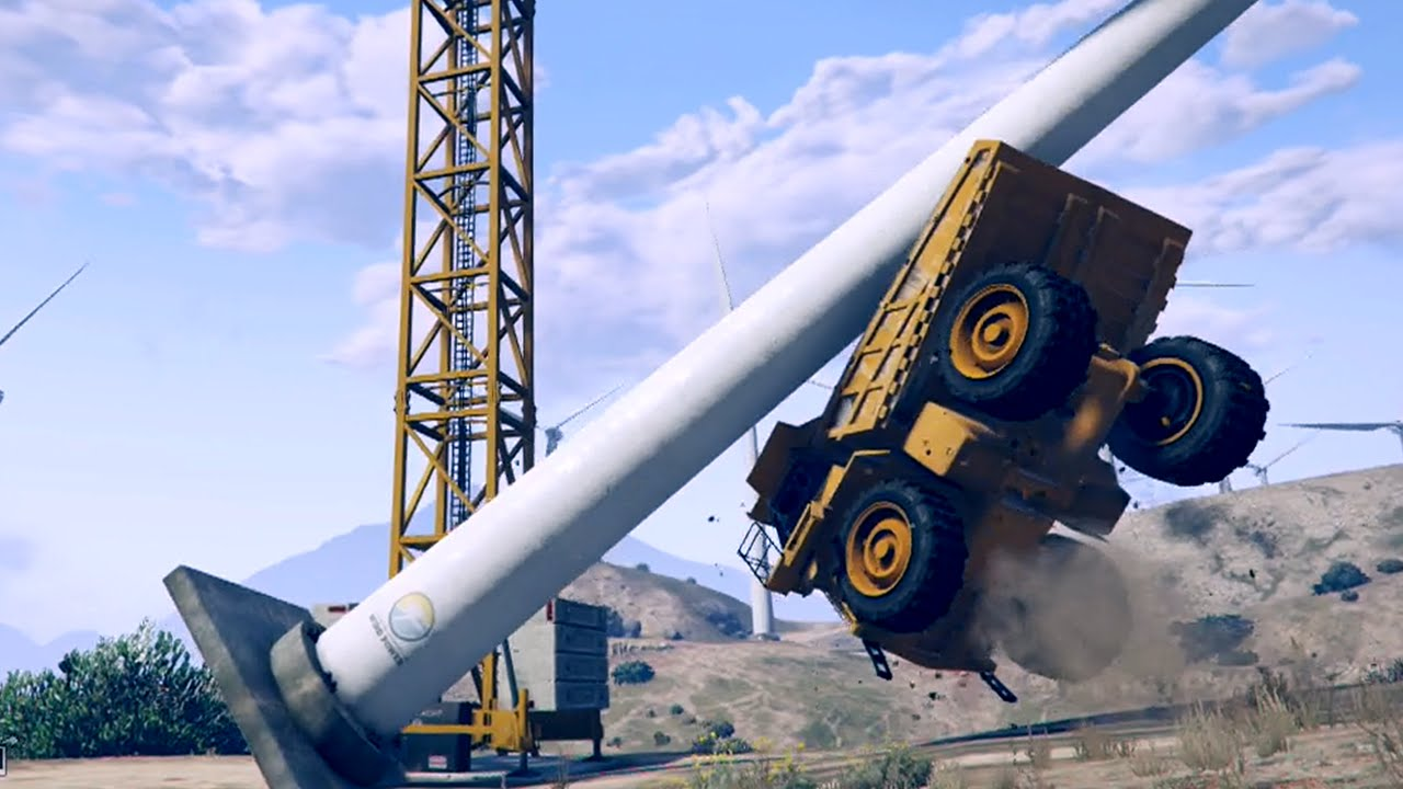 GTA 5 WIND TURBINE GLITCH! How To Knock Over Windmills in GTA 5 Online ...