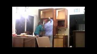 Day 5 - Refrigerator And Cabinets - Kitchen Remodeling Family Project