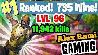 #1 World Ranked - 735 Wins - 11,942 Kills - Level 96 - Sponsor Goal 342/350