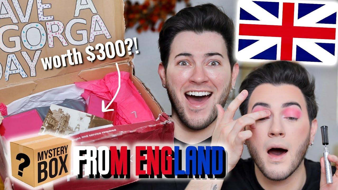 I PAID a FAN $300 TO MAKE ME A MAKEUP MYSTERY BOX... England Edition!