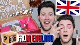 I PAID a FĄN $300 TO MAKE ME A MAKEUP MYSTERY BOX... England Edition!