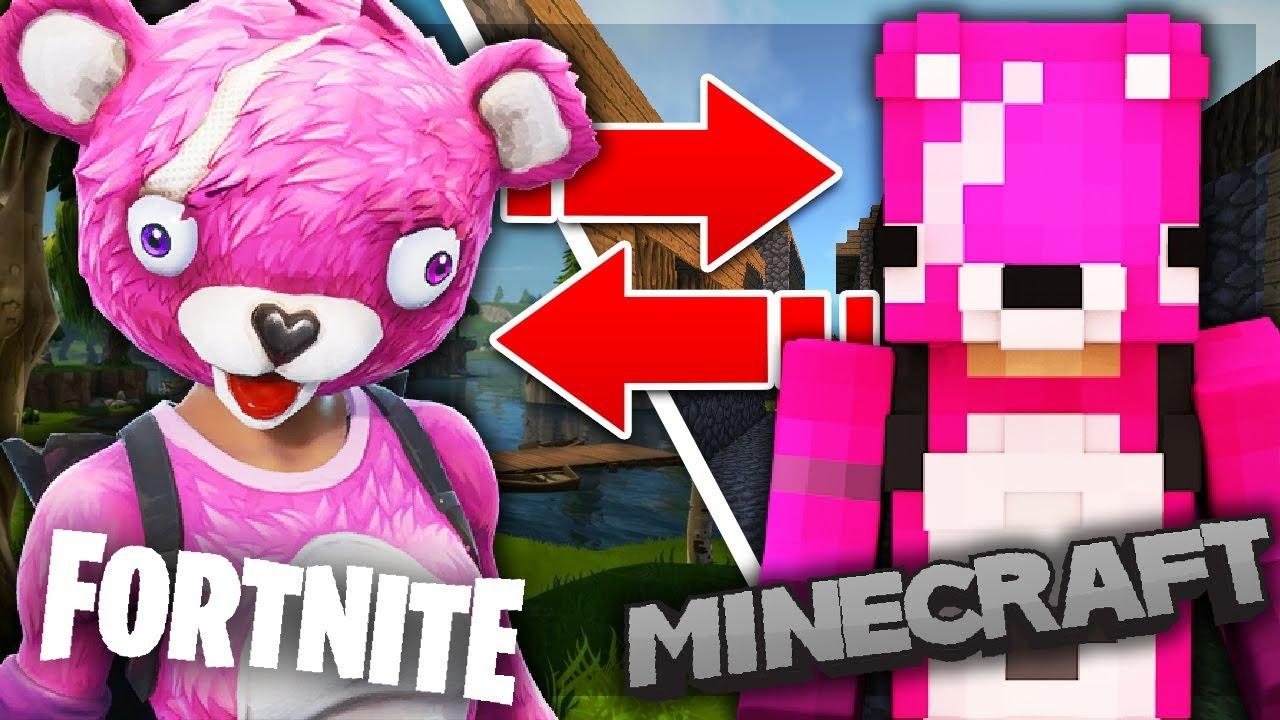 5 Fortnite Skins In Minecraft Top Minecraft Skins Youtube