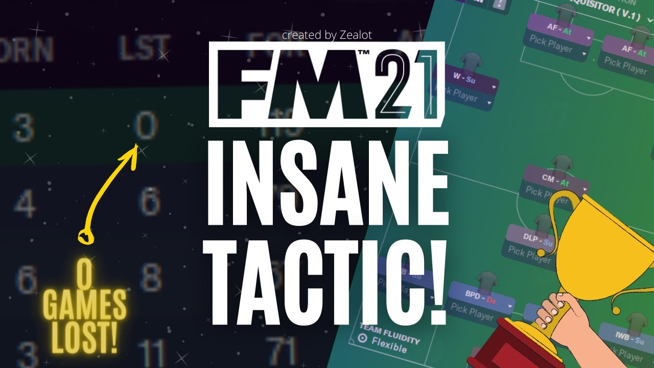 Download INSANE FM21 Tactic   0 GAMES LOST! (undefeated) and Goals Galore!    Football Manager 2021 Tactics