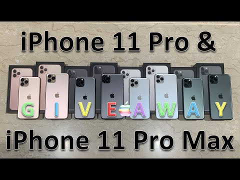 Unboxing Every Color IPhone 11 Pro & 11 Pro Max + Review & Giveaway [OPEN AS OF JAN 2020]